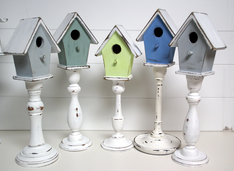 The domestic curator spring diy pedestal birdhouses for Tendance shabby chic