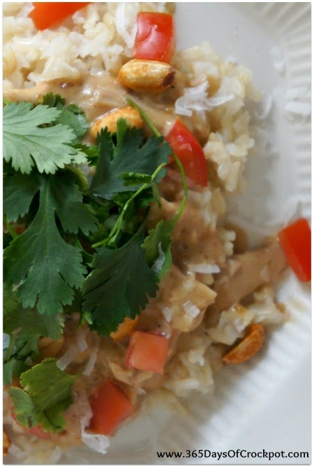 CrockPot Coconut Chicken Haystacks Recipe #easydinner #crockpot #slowcooker