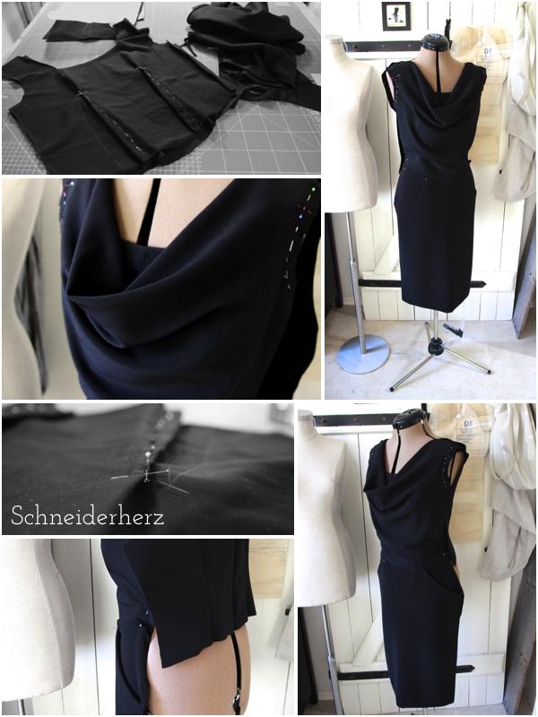 Weihnachtskleid Vogue 8873 Dress Nähen