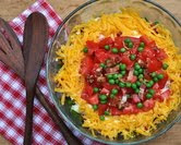 Classic Seven-Layer Salad (A Veggie Venture)