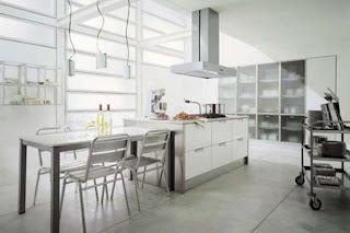 Modern Italian White Kitchen Cabinets Design