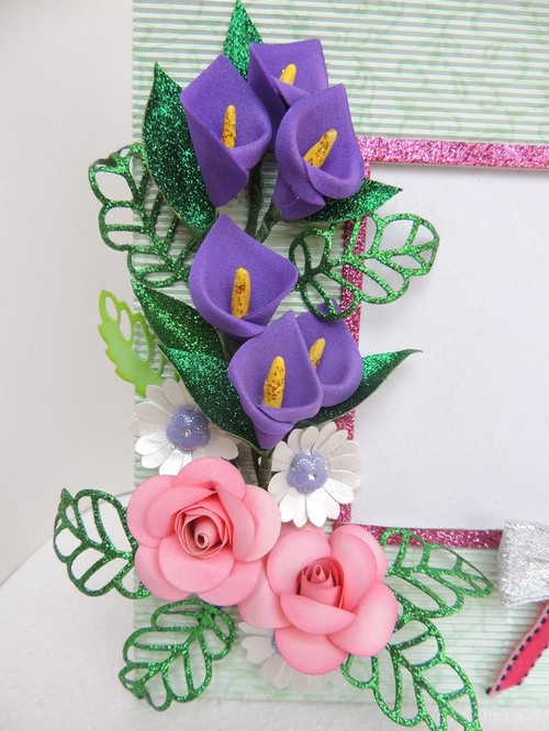 Cards crafts kids projects foam flower tutorial cala lily for Craft ideas using foam sheets