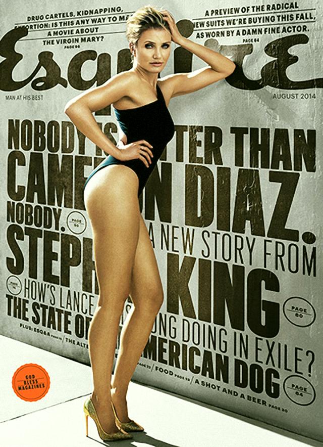 Cameron Díaz portada de la revista Esquire