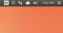 Indicador de teclado do Ubuntu