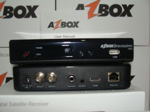 DUMP AZBOX BRAVISSIMO TWIN HD 04/10/12 JA CONFIGURADA E COM FAVORITOS E SO ATUALIZAR