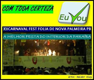 Prefeito de Nova Palmeira confirma XII Carnaval Fest Folia; evento será o maior de todos os tempos