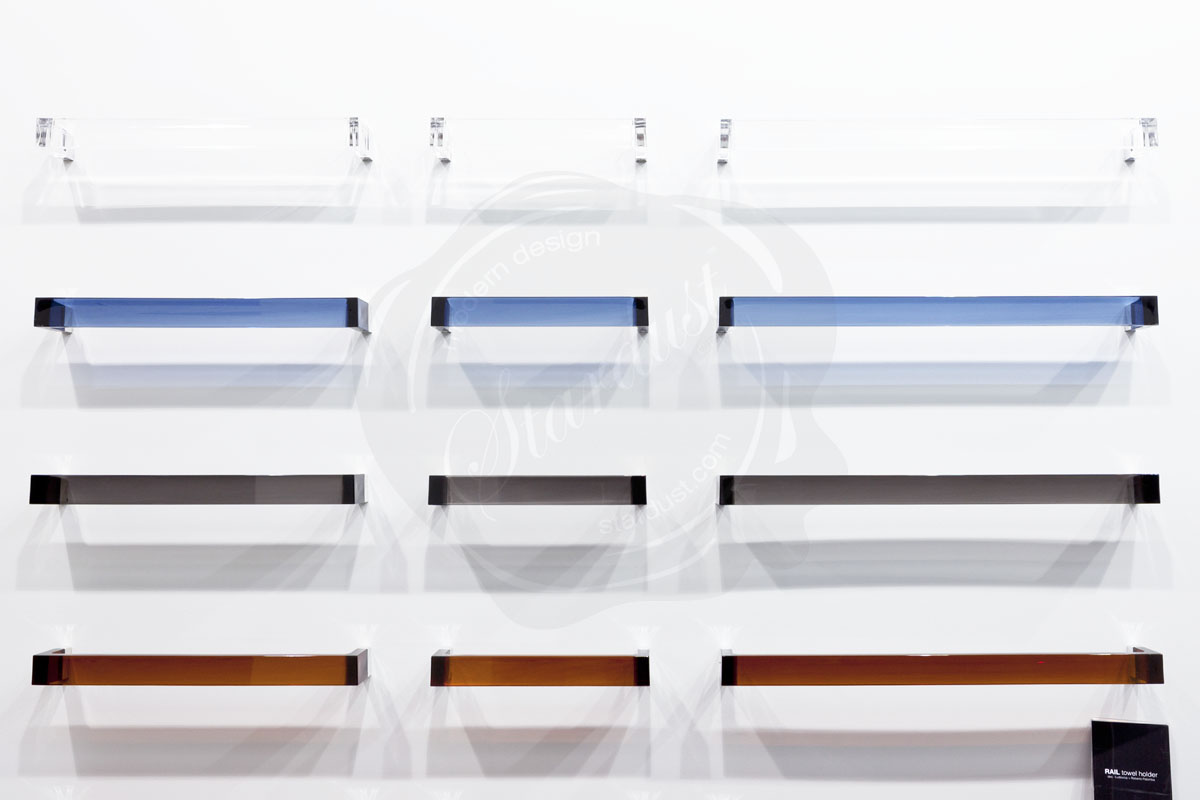 modern interior design acryllic  towel bar in bath accessories - available from stardust modern design