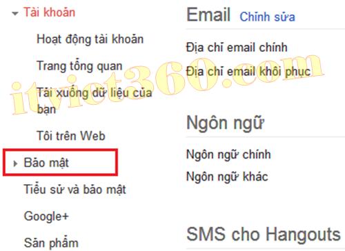 Bảo mật Gmail, Security Gmail Google