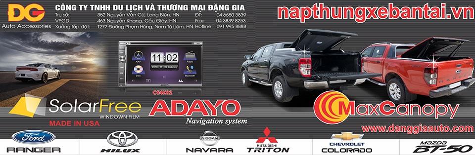 Nắp thùng xe bán tải Hilux, Navara Np300, Ford Ranger, Triton, BT50