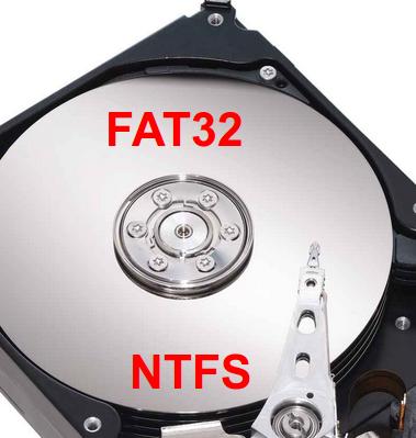 Fat32 y NTFS