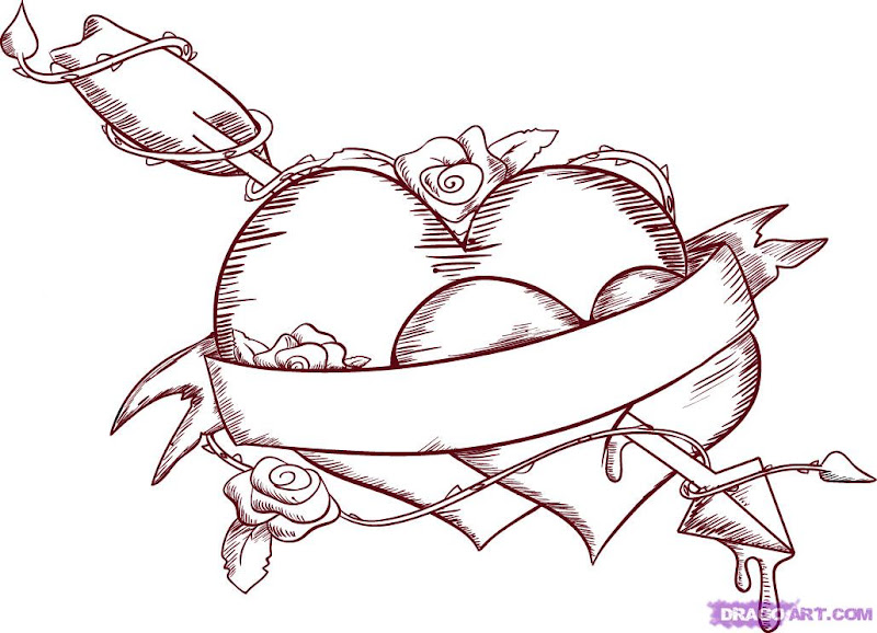 Emo Love Coloring Pages title=