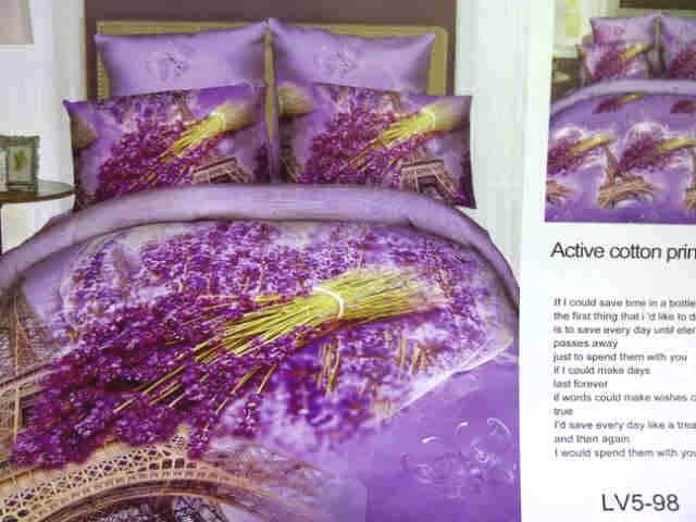 Sprei Jepang Motif Bunga Lavender Ungu