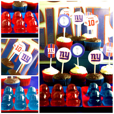 Ny giants dessert table for super bowl xlvi high low food drink
