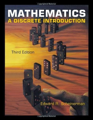 Master the fundamentals of discrete mathematics and proof-writing with MATHEMATICS: A DISCRETE INTRODUCTION! With a clear presentation, the mathematics text teaches you not only how to write proofs, but how to think clearly and present cases logically beyond this course. Though it is presented from a mathematician's perspective, you will learn the importance of discrete mathematics in the fields of computer science, engineering, probability, statistics, operations research, and other areas of applied mathematics. Tools such hints and proof templates prepare you to succeed in this course.