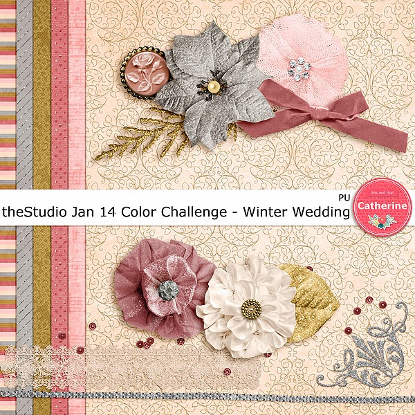 "Free scrapbook ""Winter Wedding"" from Catherine"