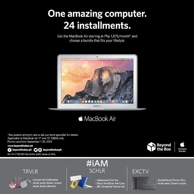 "Now is the perfect time to turn your dream into reality. Starting today, September 1st, the MacBook Air 11"" & 13"" 128GB variants will be available in super easy Zero24 installments and will be offered with three unique lifestyle bundles at no extra cost."