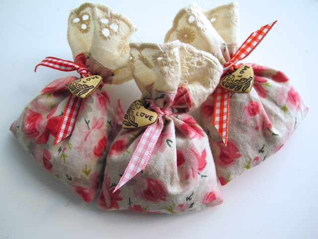 shabby chic lavender bags