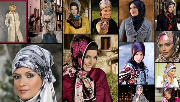 لف الحجاب التركي  - أزياء محجبات 2013