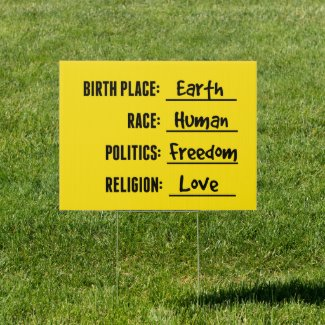 YARD SIGN FOR ALL!