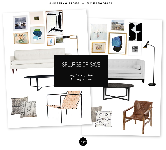Splurge or Save: Sophisticated living room | My Paradissi