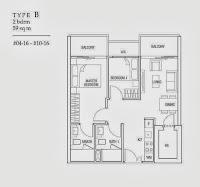 2 Bedrooms Floor Plans