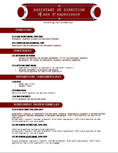 resume format  curriculum vitae exemple gratuit maroc