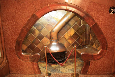 Mushroom-shaped fireplace in Casa Batlló