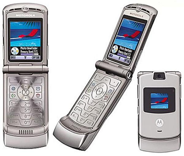 Мобильный раскладной телефон с двумя дисплеями Motorola RAZR V3i Silver телефон-легенда