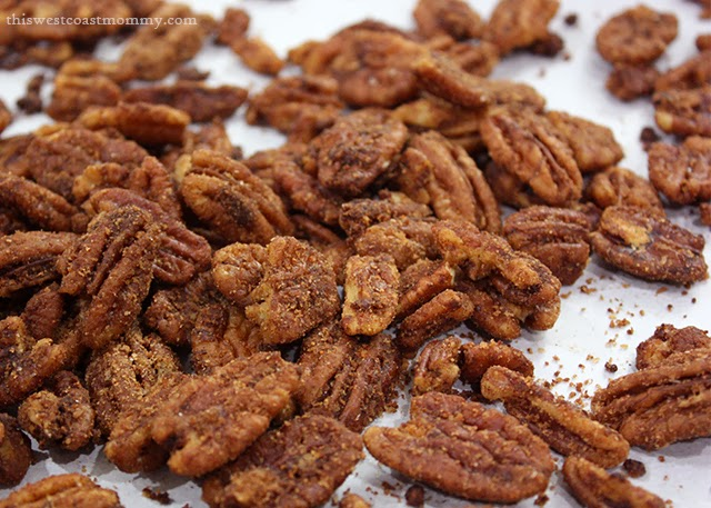 Spicy Maple Cinnamon Pecans