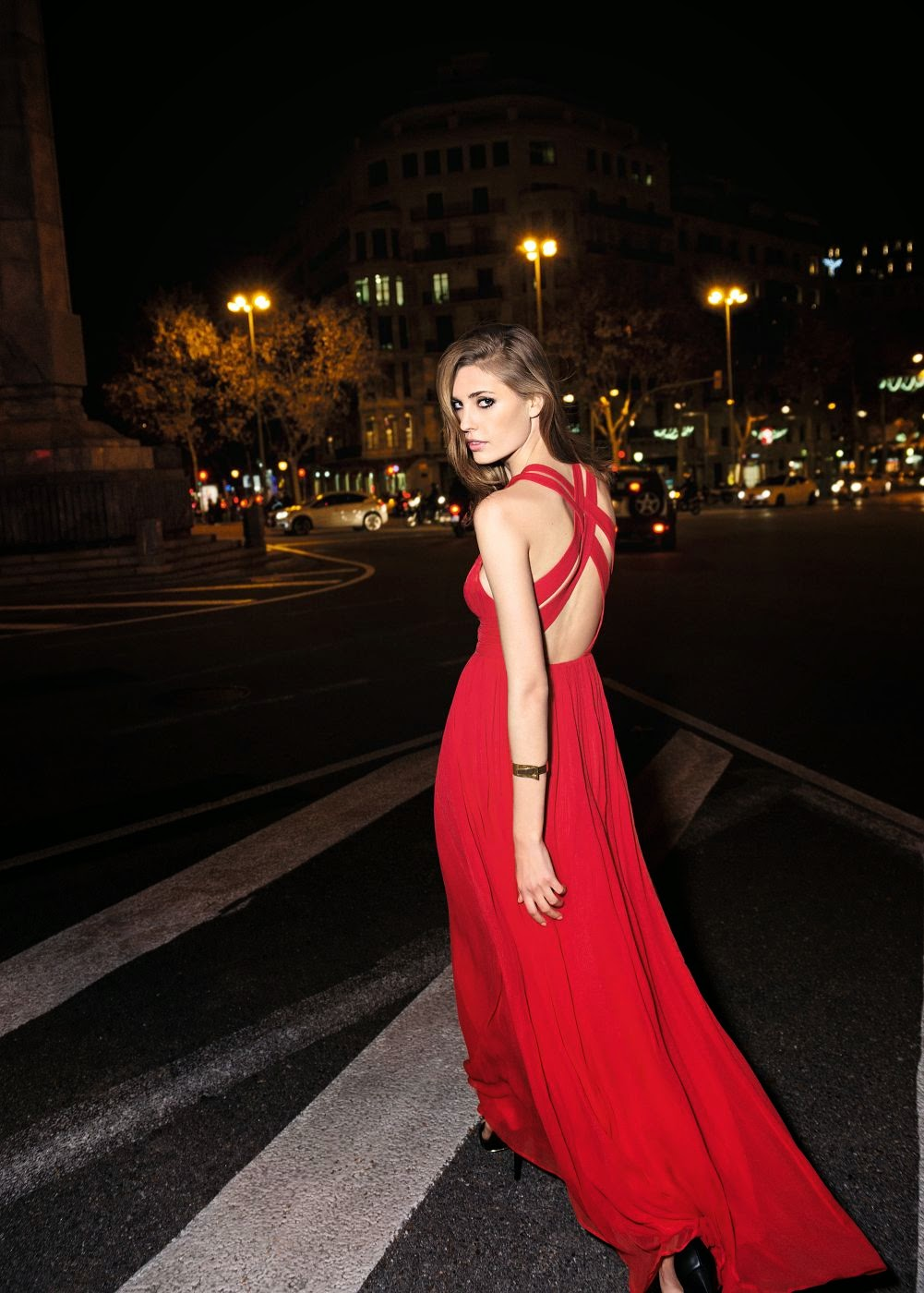 Mango Silk Gown: Affordable Wedding Dresses - Red