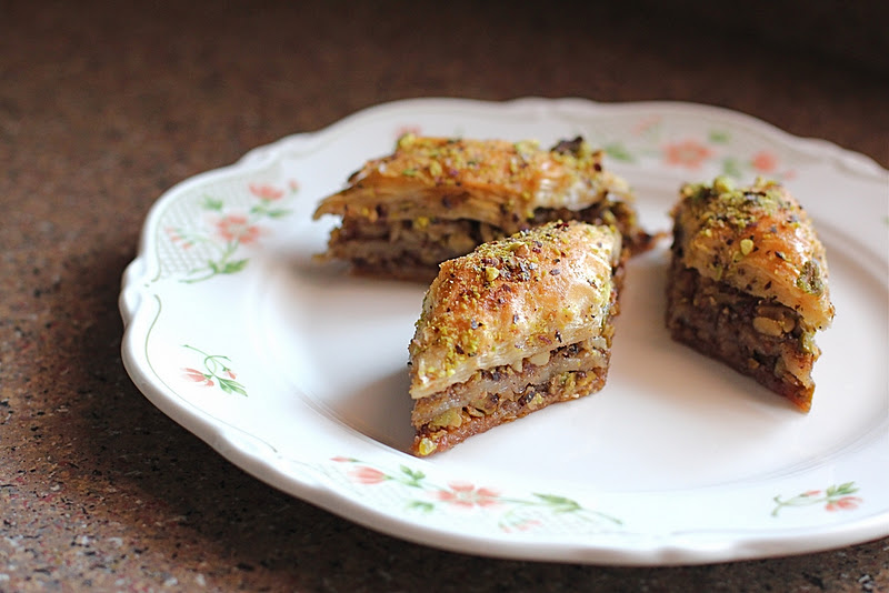 ... the Blue Apocalypse: Baklava with Pistachios, Walnuts and Honey Syrup