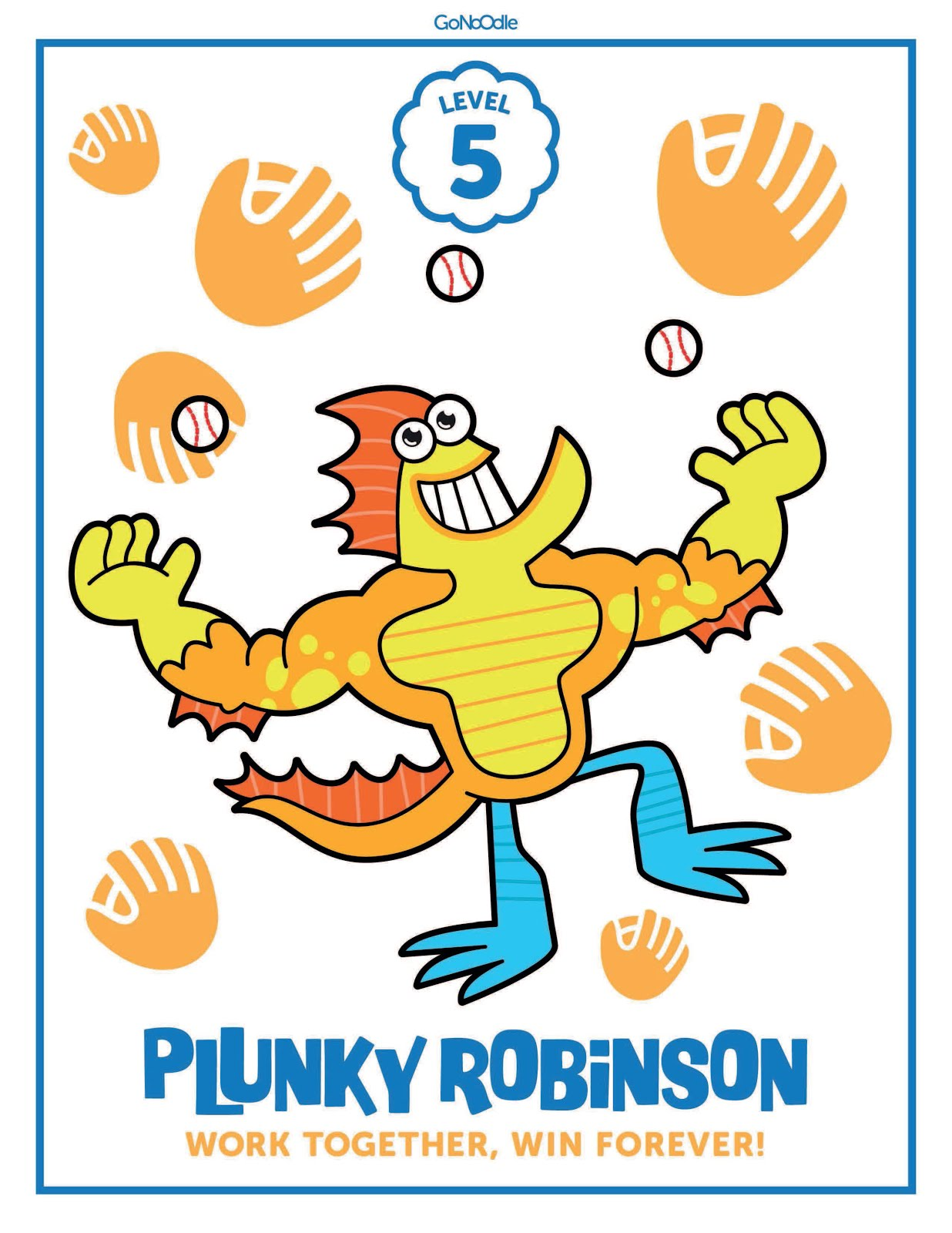 Plunky Robinson Gonoodle Coloring Pages