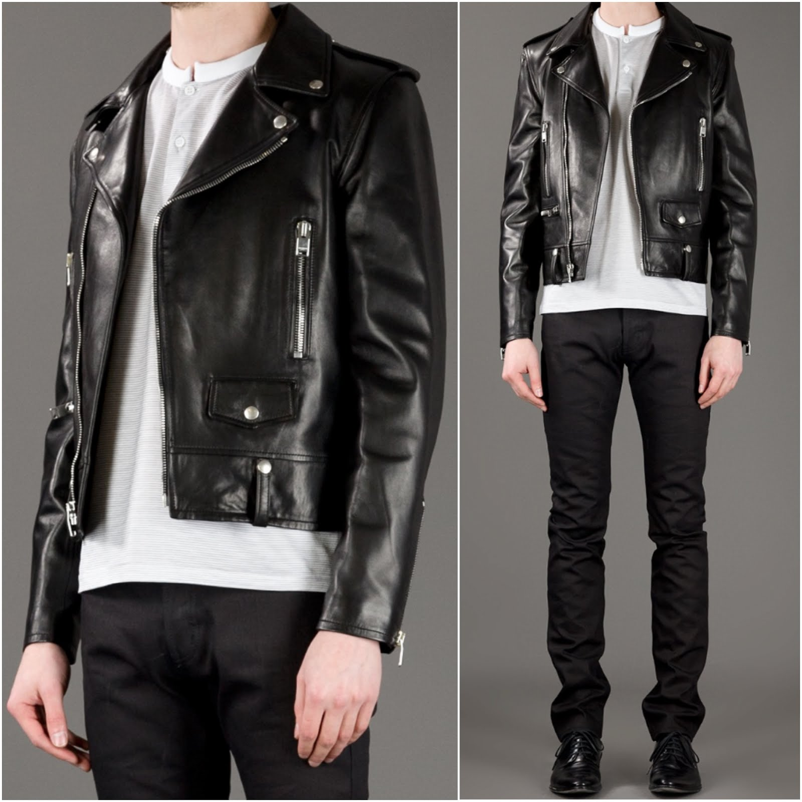 00O00 Menswear Blog: Adam Levine in Saint Laurent leather biker jacket - 102.7 KIIS FM's Wango Tango 2013