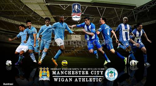 Jadwal City VS Wigan Final Fa Cup