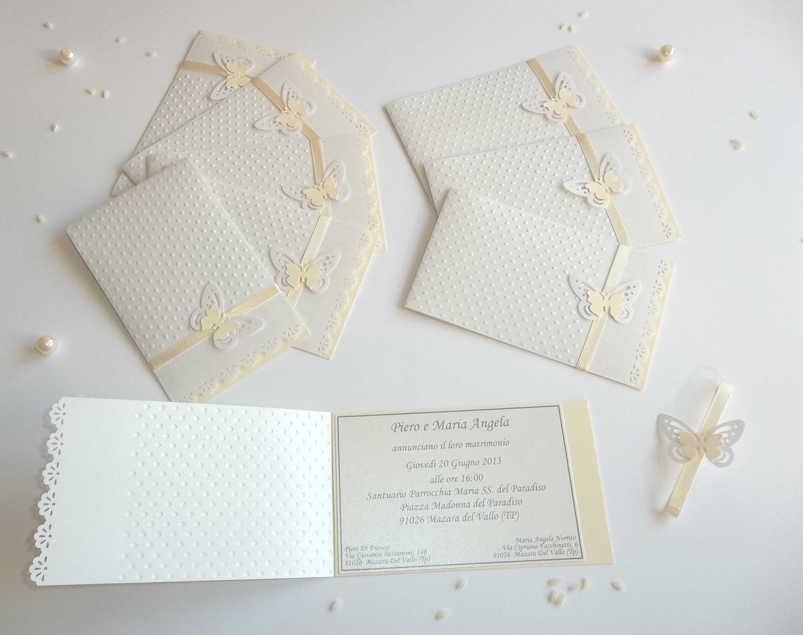 spesso Sara Crea: Partecipazioni tema farfalle: inviti di nozze, per  OL77