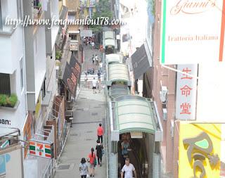 些利街自动扶梯