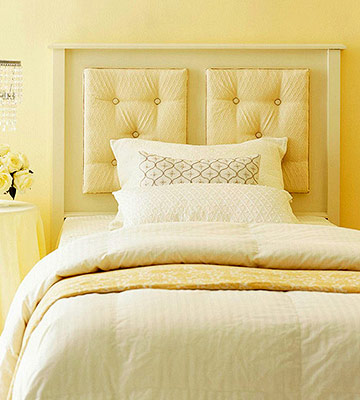 Beautiful staged homes some easy diy headboards to make for Simple headboards