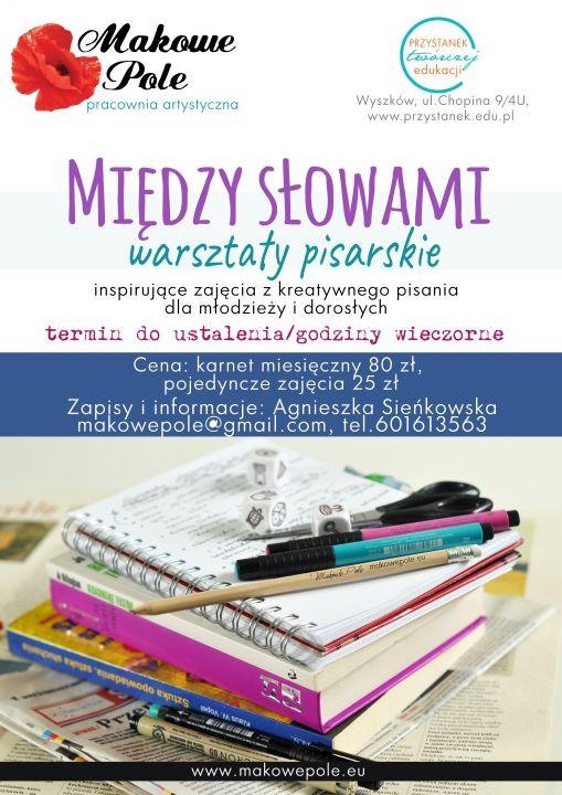 Warsztaty pisarskie dla młodziezy i dorosłych 2016/2017