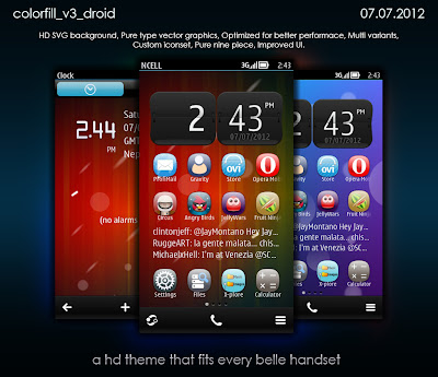 colorfill v3 droid Theme for Nokia Belle Colorfill ICS by DSA Studio