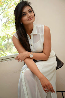 Actress Nikitha Narayan Picture Gallery in White Dress at Ladies and Gentleman Movie Press Meet 22.JPG