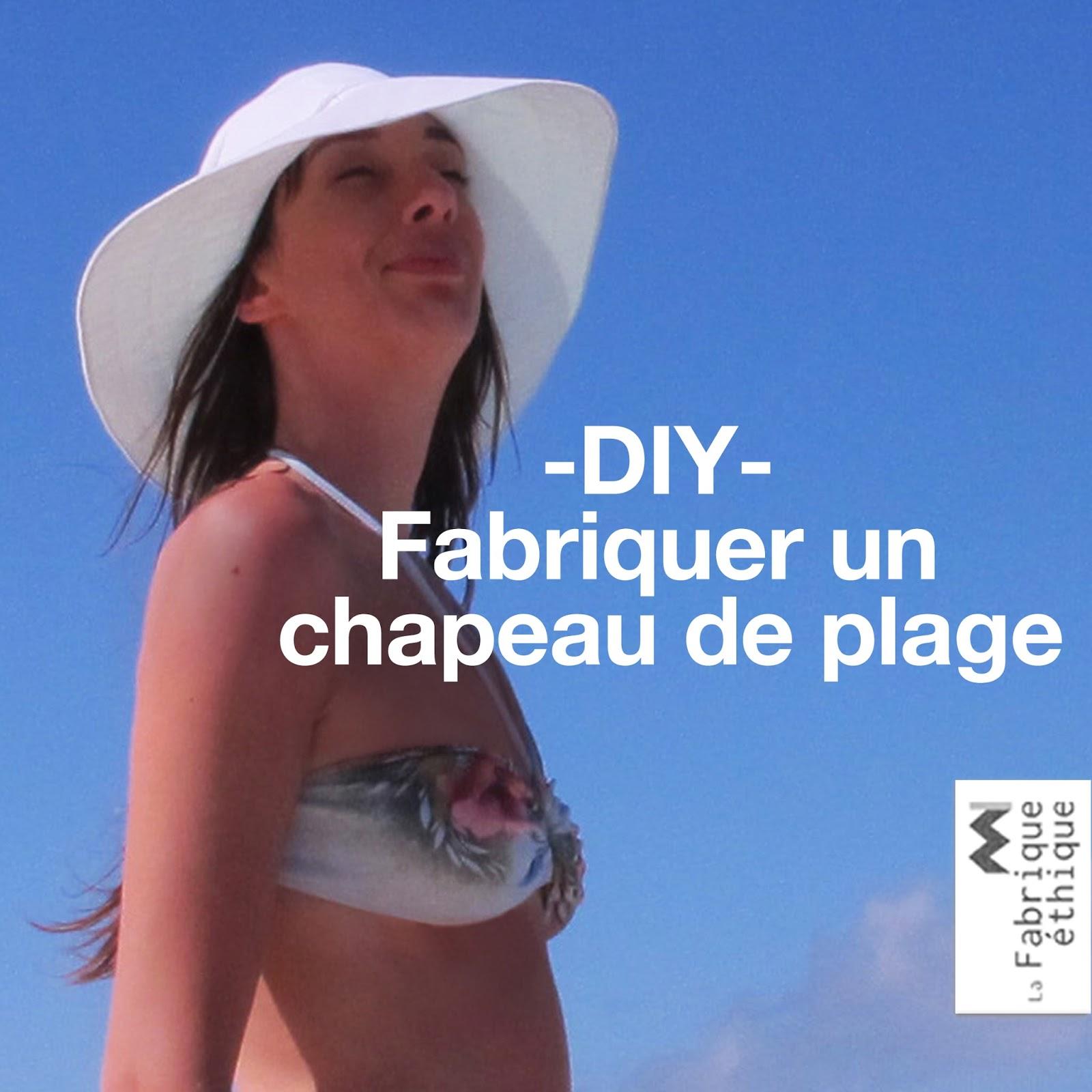 fabriquer un chapeau de plage blogue de couture diy de la fabrique thique. Black Bedroom Furniture Sets. Home Design Ideas