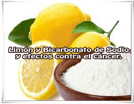 Salud y bienestar, limón, bicarbonato, cáncer