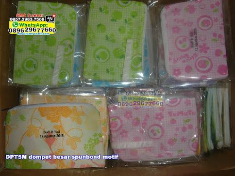 dompet besar spunbond motif murah