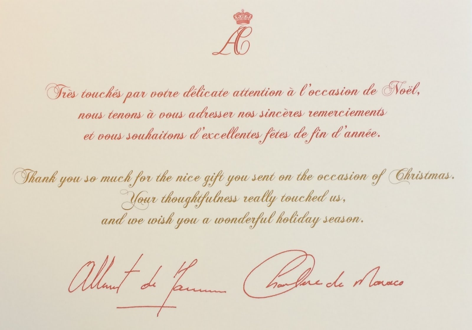 Gerts royals monaco christmas card 20152016 other responses from monaco christmas replies at bottom of page negle Image collections