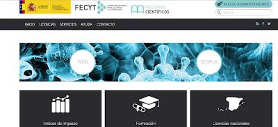 Nuevo portal de Recursos Científicos de la Fundación Española para la Ciencia y la Tecnología.