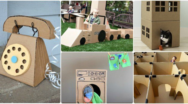 how to make cardboard house easy