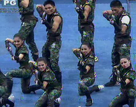 UAAP Cheerdance Competition 2013 - DLSu Animo Squad goes military
