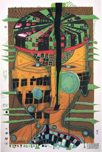 ONE OF FIVE SEAMEN  by  HUNDERTWASSER