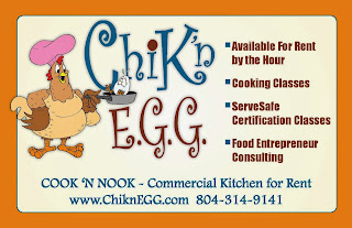 ChiknEGG's Cook 'N Nook is a Commissary Kitchen for rent in Goochland County, VA