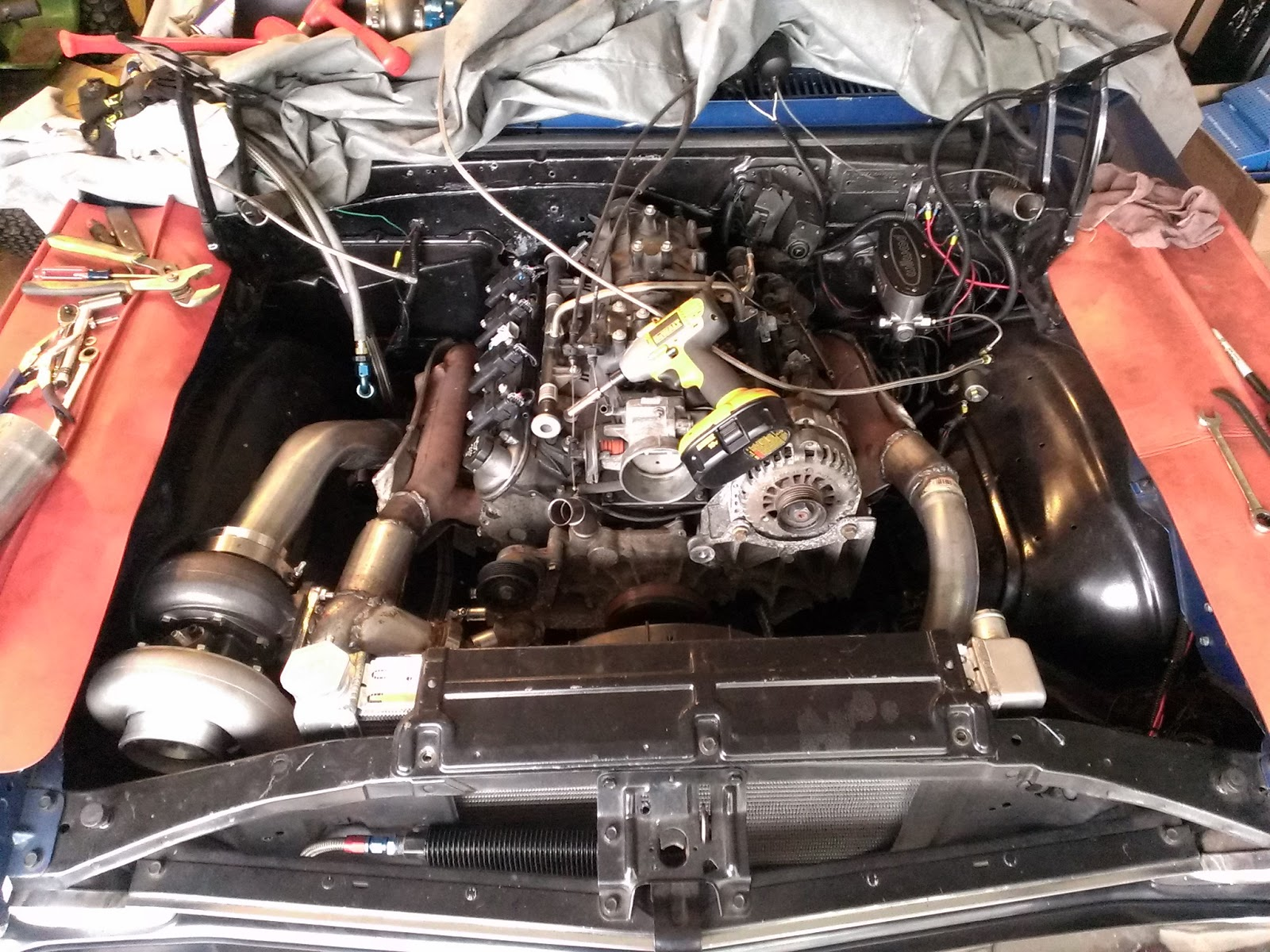 Sloppy Mechanics: alot done on johns 5.3 gt45 nova